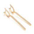 14ct rose gold vermeil over sterling silver Allobar collection ingot drop earrings from One by One