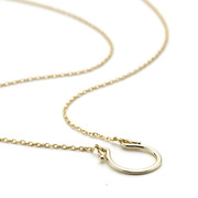 Gold vermeil horseshoe necklace sterling silver core metal Allobar collection from One by One Jewellery London