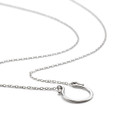 White rhodium Allobar horseshoe necklace on 40cm chain in sterling silver core metal SKU N0017S