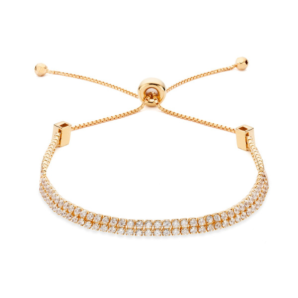 double strand cz slide bracelet rose gold vermeil over sterling silver constellations