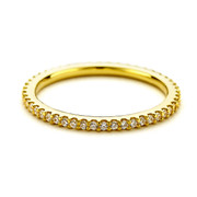 eternity cz stacking ring - gold vermeil
