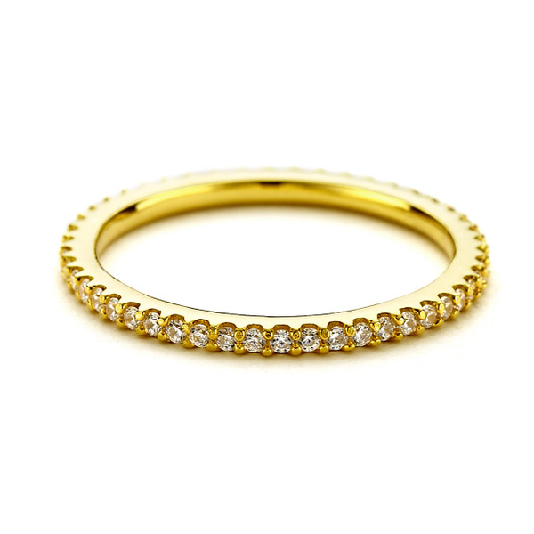 eternity cz stacking ring gold vermeil