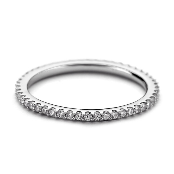 sterling silver cz eternity stacking ring