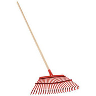 Fixed Tine Leaf Rake - 19 Inch/25 Tines Steel Head, 54 Inch Wood Handle. Corona (12)