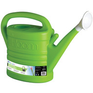 BLOOM WATERING CAN: HOLDS UP TO 2 GALLONS. LARGE HANDLE FOR BETTER GRIP, REMOVABLE HEAD FOR POURING