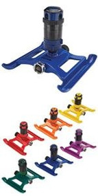 ColorStorm  4 Pattern Gear Driven Sprinkler on Sled Base. Waters up to 40' in Diameter Assorted Colors