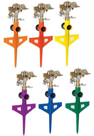 Colorstorm Stake Base Impulse Sprinkler Assorted Colors
