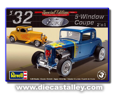 Image 1  sc 1 st  Free Time Hobbies & 1/25 Revell 1932 Ford 5-Window Coupe (2 in 1 Kit) markmcfarlin.com