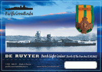 1/350 Pacific Crossroads Dutch Light Cruiser De Ruyter Full Hull