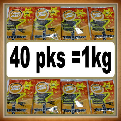 Camel Jerky 1kg 40* 25gm packs