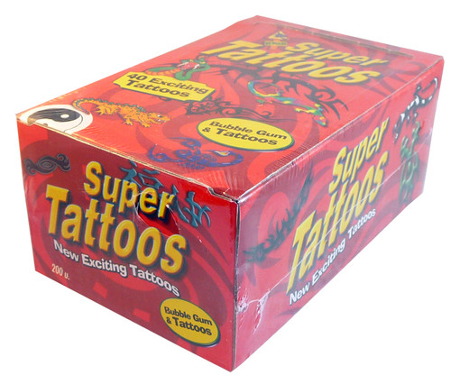 super tattoo bubble gum 200pk