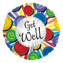 "Get Well 18"" Foil Balloon - Round"