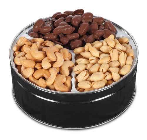 Salted Virginia Peanuts, Milk Chocolate Virginia Peanuts and Salted Cashews