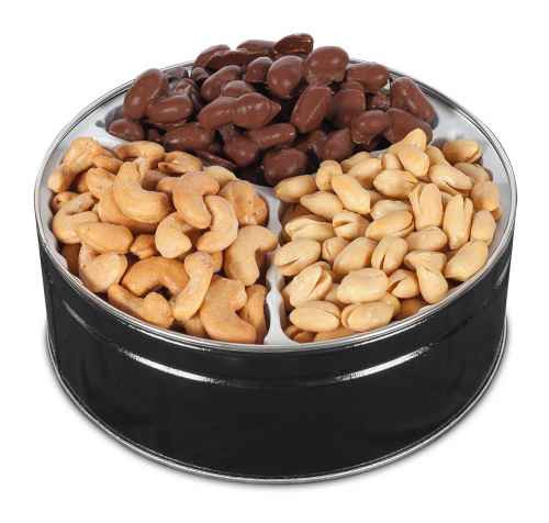 Salted Virginia Peanuts, Milk Chocolate Virginia Peanuts and Salted Cashews