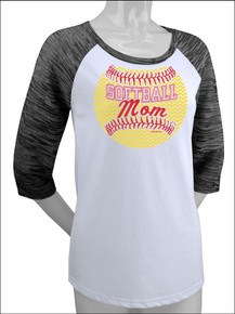 Softball Mom Raglan
