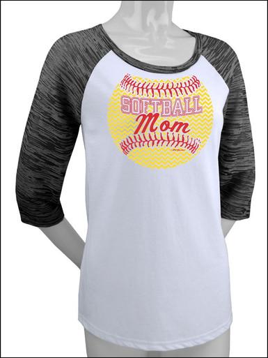 Softball Mom Raglan