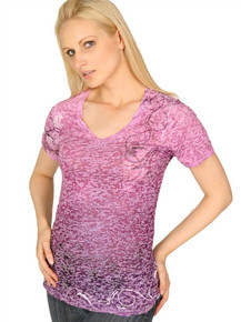 Purple Vine Short-Sleeved Burnout