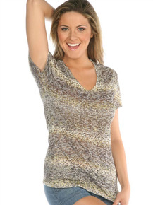 Cheetah Short-Sleeved Burnout