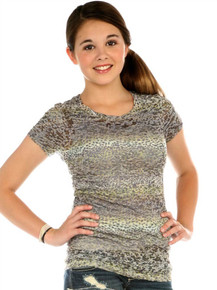 Cheetah Short-Sleeved Tween Burnout