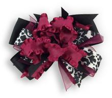 Burgandy Flower Dress Bow