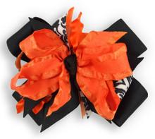 Orange Flower Dress Bow