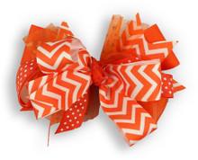 Orange Chevron Bow
