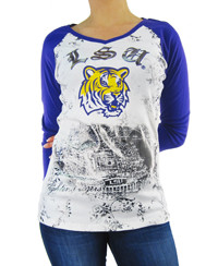 LSU (Louisiana State University) Raglan