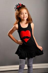 Mustache Heart Dress