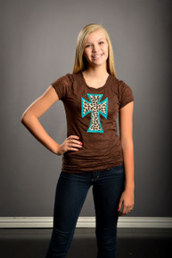Teal Leopard Cross (Tween)