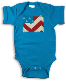Chevron Flag Onesie