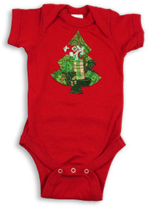 Red & Green Christmas Tree Onesie