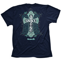 Amazing Grace Cross Women's Cherished Girl Tee - Back