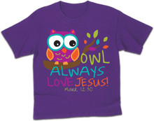 Owl Always Love Jesus Kerusso Kids Tee
