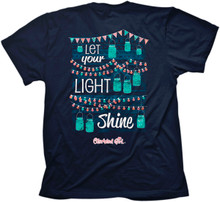 Cherished Girl Let Your Light Shine / Jar Lights Christian Women's Tee Back