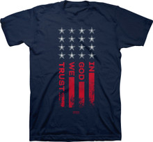 In God We Trust Flag Patriotic Christian T-Shirt from Kerusso