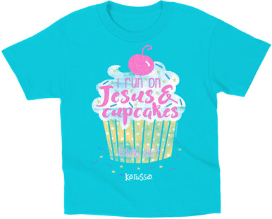 I Run on Jesus and Cupcakes T-Shirt by Kerusso