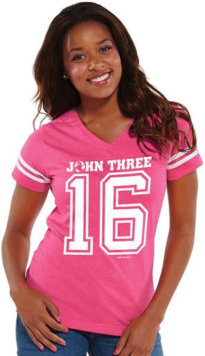 Women's John 3:16 Football Jersey
