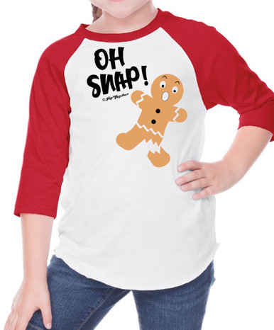 Oh Snap Raglan for Boys or Girls