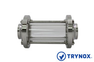 Shop Now Trynox's Sanitary sight glass for use in process applications in the Food, Beverage, Brewing, Winery, Dairy, Pharmaceutical and Tanks industries.