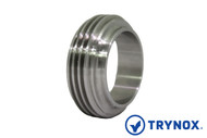 Trynox Sanitary Bevel Seat Short Threaded Welding Ferrule