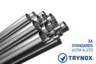 Trynox Sanitary Tubing Stainless Steel ASTM  A-270 3A Standards