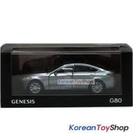 Hyundai Motors Genesis G80 Diecast Metal Mini Car Toy 1/38 Metal Silver Genuine