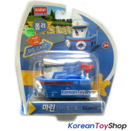 Robocar Poli MARINE Diecast Metal Figure Toy Car Ferry Boat Academy Genuine