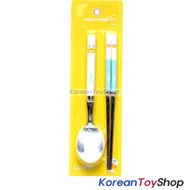 KAKAO Friends TUBE Stainless Steel Spoon & Chopsticks Set Kids BPA Free Korea