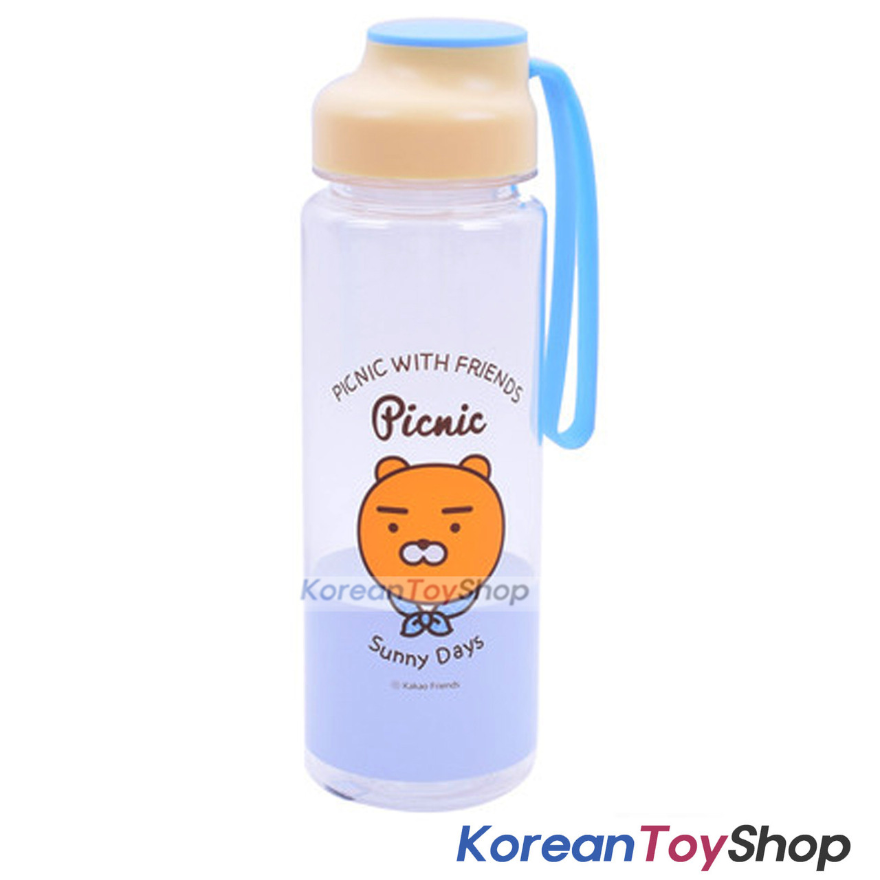 KAKAO Friends RYAN Picnic Silicone Handle Water Bottle 500ml ...