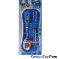 The Little Bus Tayo Stainless Steel Spoon Chopsticks Hard Case Set BPA Free Original