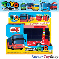 The Little Bus TAYO Diecast Plastic Car Cito Model Double Decker Full Back Gear