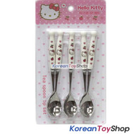 Hello Kitty Stainless Steel Teaspoons 5 pcs Set Tea Coffee Spoons Ceramic Handle