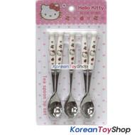 Hello Kitty Stainless Steel Teaspoons 5 pcs Set Tea Coffee Spoons Ceramic Handle
