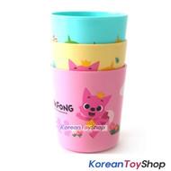 PINKFONG Plastic Cup 3 pcs Set 3 pcs Cups Set Picnic Toothbrush Cups ORIGINAL